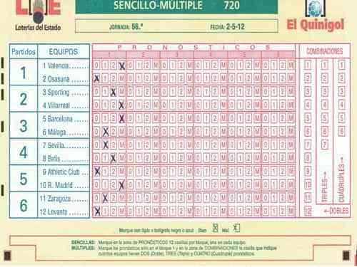 Resultados de La Quiniela jornada 51 6