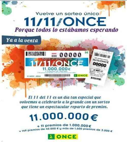 Cupón especial el día 11/11 de la ONCE 7
